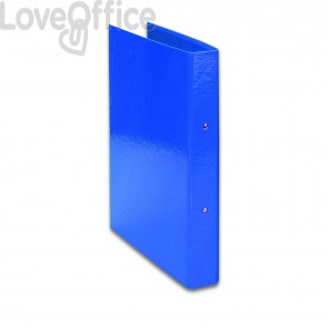 Raccoglitore ad anelli Iris Euro-cart - in carta plastificata - dorso 4 cm - 22x30 cm - Blu