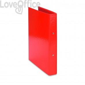 Raccoglitore ad anelli Iris Euro-cart - in carta plastificata - dorso 4 cm - 22x30 cm - Rosso