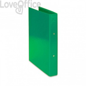 Raccoglitore ad anelli Iris Euro-cart - in carta plastificata - dorso 4 cm - 22x30 cm - Verde