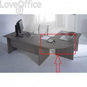Raccordo angolare 90° per Scrivania Larix rovere grigio per scrivanie componibili