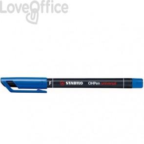 Stabilo Pennarelli indelebili blu - Stabilo OHPen Universal - fine - 0,7 mm (conf.10)