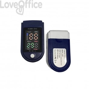Saturimetro da dito - Certif. CE - risultati in 8 secondi - blu/bianco LK87