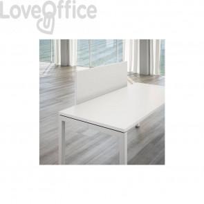 Schermo frontale per scrivania Linekit - Bianco - 120x1,8x41 cm