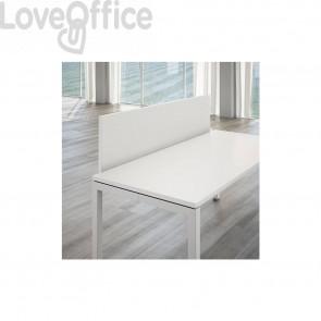 Schermo frontale per scrivania Linekit - Bianco - 160x1,8x41 cm