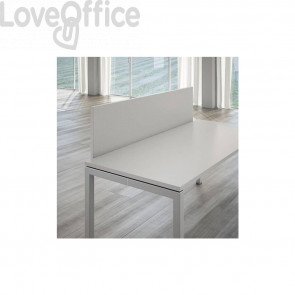 Schermo frontale per scrivania Linekit  - Grigio - 160x1,8x41 cm