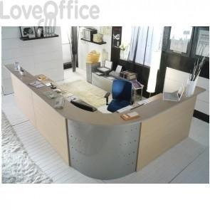 Bancone reception Alessandria Unisit - Acero - 256x176 cm