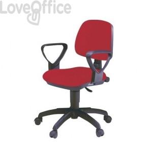 sedia operativa rossa per ufficio