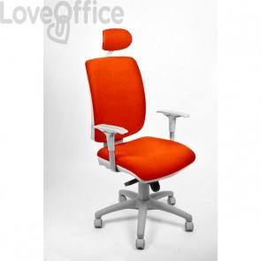 sedia ufficio girevole arancione in polipropilene