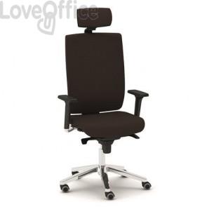 Poltrona ufficio ergonomica KIND UNISIT - pelle - NERO - KIPGT/PN