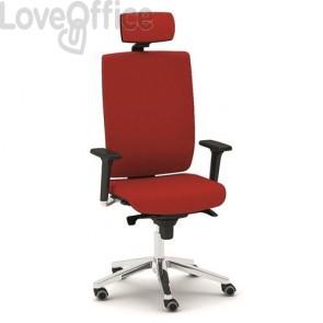 Poltrona ufficio ergonomica KIND UNISIT - ignifugo - ROSSO - KIPGT/IR