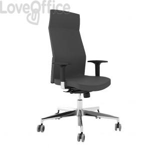sedia di pelle da ufficio nera
