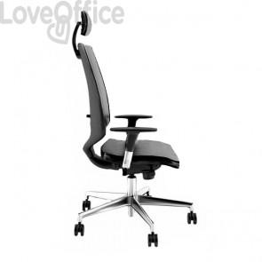 Poltrona ufficio ergonomica NEWAIR UNISIT - ignifugo - ANTRACITE - NWNAP/IT
