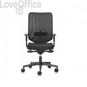 Sedia da ufficio ergonomica NEWAIR UNISIT - pelle - NERO - NWN/PN
