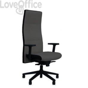 Poltrona ufficio ergonomica NEXT UNISIT - fili di luce - GRIGIO SCURO - NEXT/F14