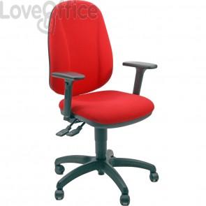 sedia ufficio girevole rosso in polipropilene