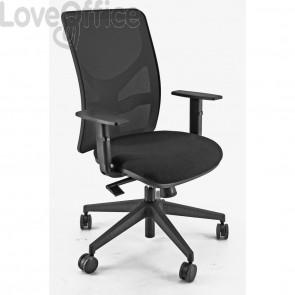 sedia ufficio direzionale nera modello PENTAGON Y 10 in polipropilene