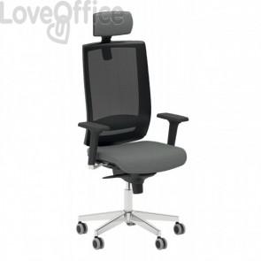 Poltrona ufficio ergonomica KIND UNISIT - ignifugo - ANTRACITE - KIPGN/IT
