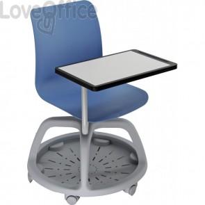 Seduta didattica con tavolo scrittoio - Banco Scuola Blu College