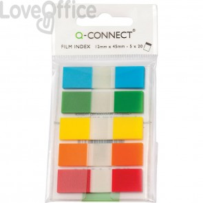 Segnapagina Q-Connect 12x43 mm assortiti - KF14966 (blister 5 blocchetti da 20)
