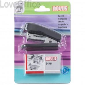 Cucitrici Mini Novus - nero - tascabile + punti 24/6