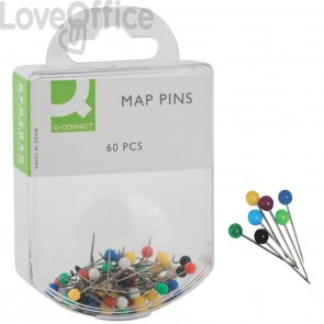 Spilli segna mappe cartografici Q-Connect - colori assortiti - 15 mm (conf.60)