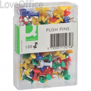Push pins assortite Q-Connect per bacheca (conf.100)