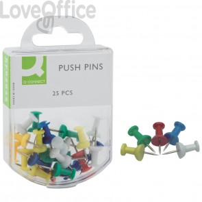 Push pins assortite per bacheca Q-Connect - Opaco (conf.25)
