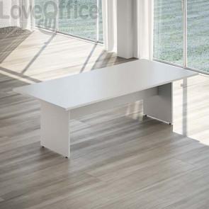 tavolo riunioni grigio fianco pannello