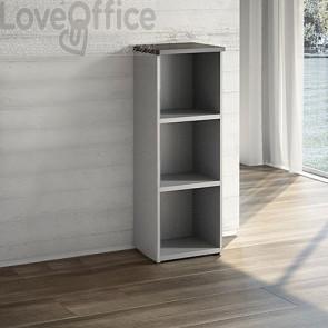 Mobile Libreria a giorno - Wengè - 2 ripiani - 45x40,1x129,3 cm