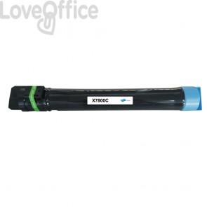 Toner compatibile Xerox 106R01566 ciano - 17200 pagine