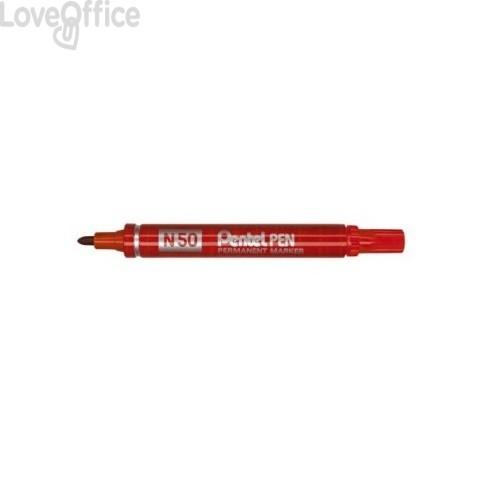 Pentel pennarello indelebile rosso - Pentel N50 - tonda - 4,3 mm