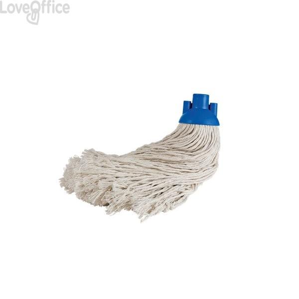 Mop assorbente per pavimenti La Piacentina - cotone - 33 cm - 280 gr - Attacco a vite italiana