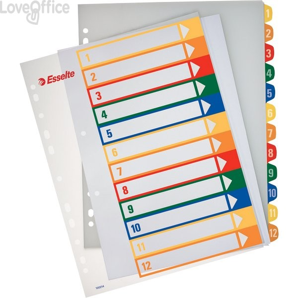 Rubrica numerica PPL Maxi stampabile al PC Esselte - 12 tasti scrivibili - 100214
