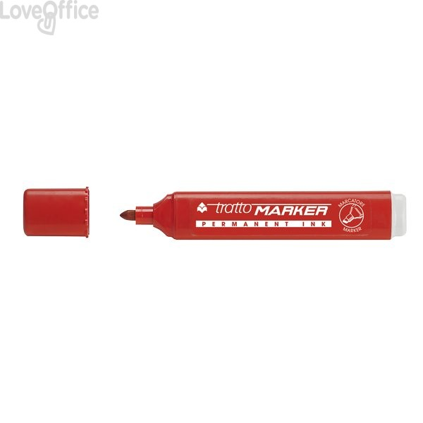 Tratto Marker Pennarelli indelebili rossi - tonda - 1- 5 mm - 841102 (conf.12)