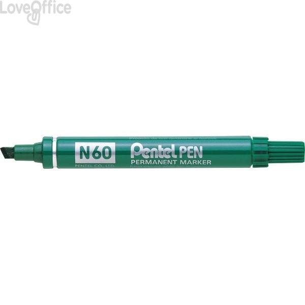 Pentel pennarello indelebile verde - Pentel N60 - a scalpello - 3,9-5,5 mm
