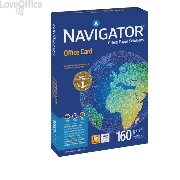 Risma carta Office Card Navigator - A4 - 160 g/mq (risma 250 fogli)