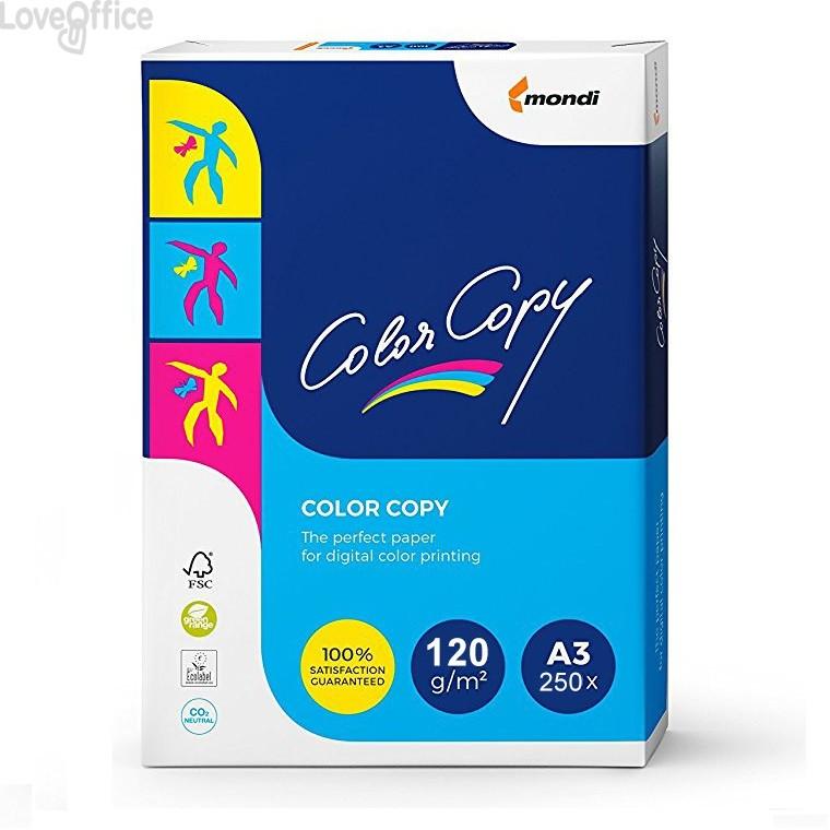 Risma carta Color Copy Mondi - A3 - 120 g/mq (250 fogli)