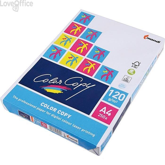 Carta da fotocopie A4 Color Copy Mondi - 120 g/mq (risma250)
