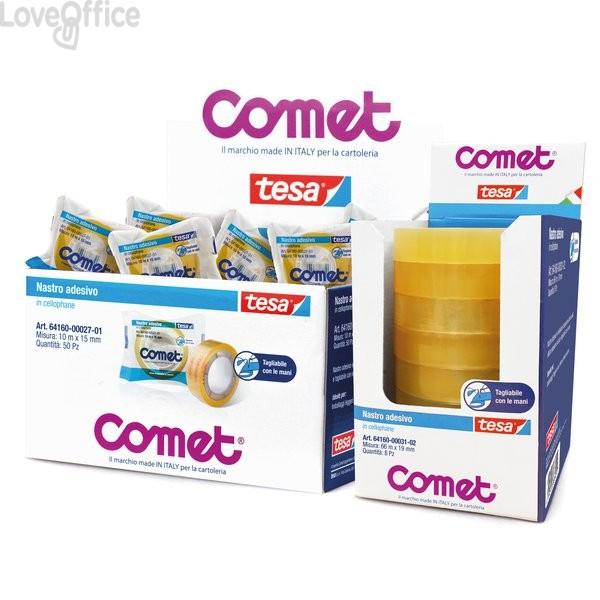 Nastro adesivo trasparente Comet Cellophane - Torre - 15 mm x 66 m (conf.10)