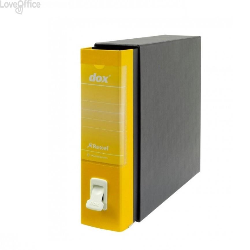 Registratore a leva Dox 1 - Commerciale - dorso 8 cm - 23x29,7 cm - giallo - D26106
