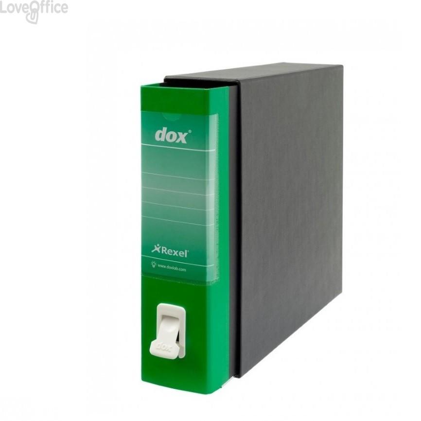Registratore a leva Dox 1 - Commerciale - dorso 8 cm - 23x29,7 cm - verde - D26114