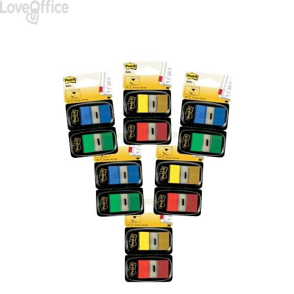 Segnapagina Post-it® Index 680 - segnapagina - blu, giallo, rosso, verde (conf.12)