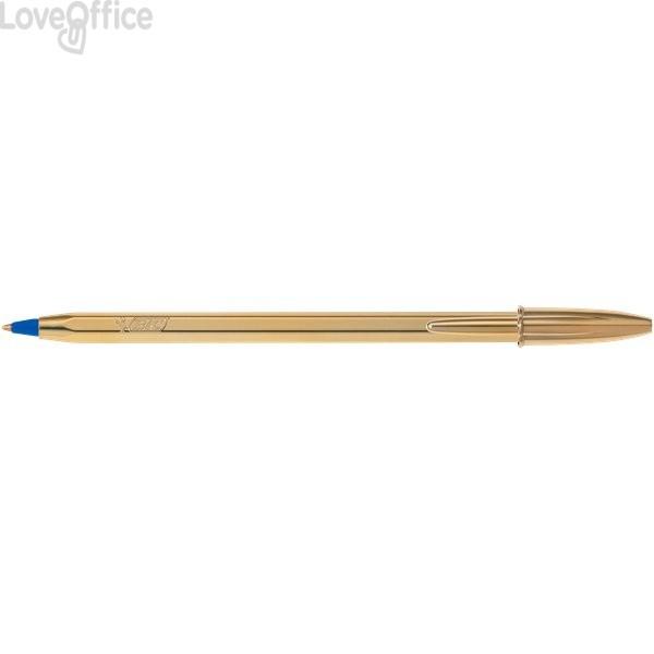 Penne a sfera Cristal Shine Bic - oro - blu (conf.20)