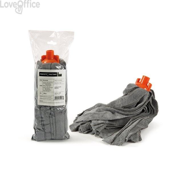 Mop assorbente La Piacentina - Mop per pavimenti - microfibra - 35 cm - 200 g - Attacco a vite italiana