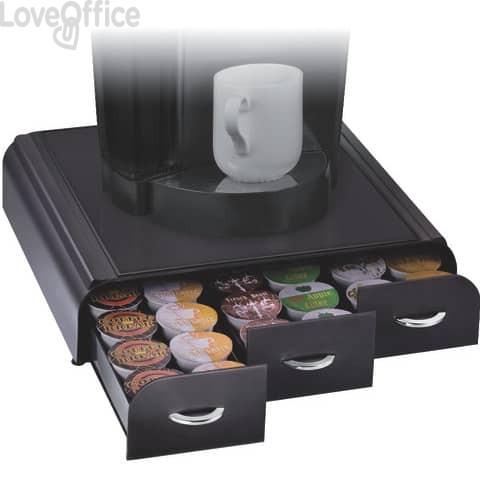 Organizzatore cialde per macchina da caffè CEP plastica 3 cassetti 7x33x34 cm nero - 2230060011