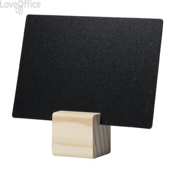Supporti targhe scrivibili Securit - legno beige - TAG-HLD-TE (conf.6)