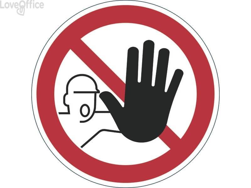 """Pittogramma da pavimento """"Accesso vietato alle persone non autorizzate"""" DURABLE rosso Ø 430 mm - 173003"""