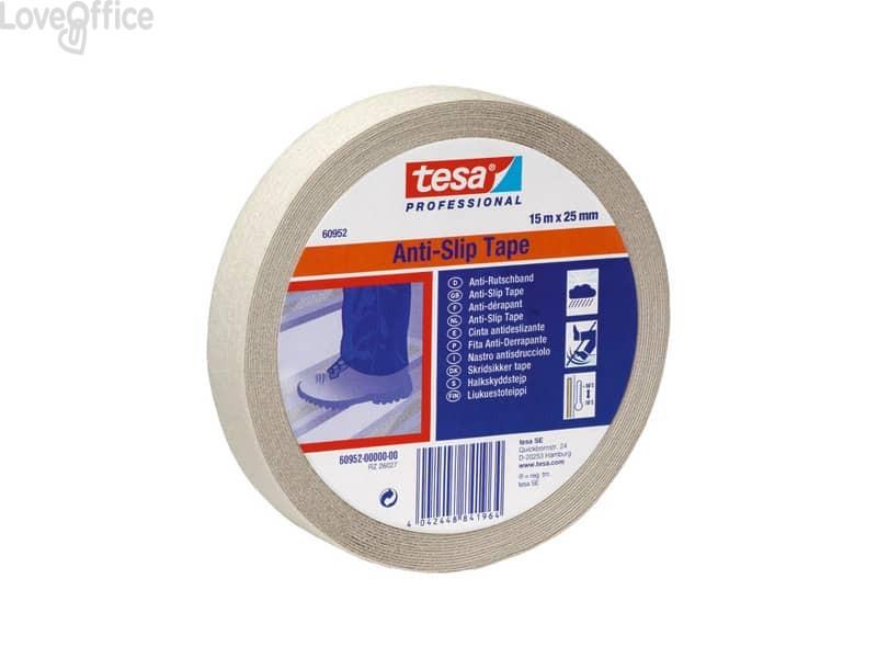Nastro antisdrucciolo Tesa Anti Slip Professional 25mmx15m trasparente 60952-00000-00