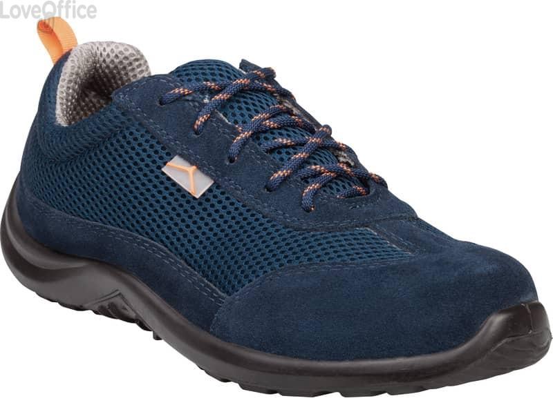 Scarpe da lavoro DELTA PLUS basse Miami S1P - poliestere mesh e pelle scamosciata blu - Taglia 39 - COMOSPBL39