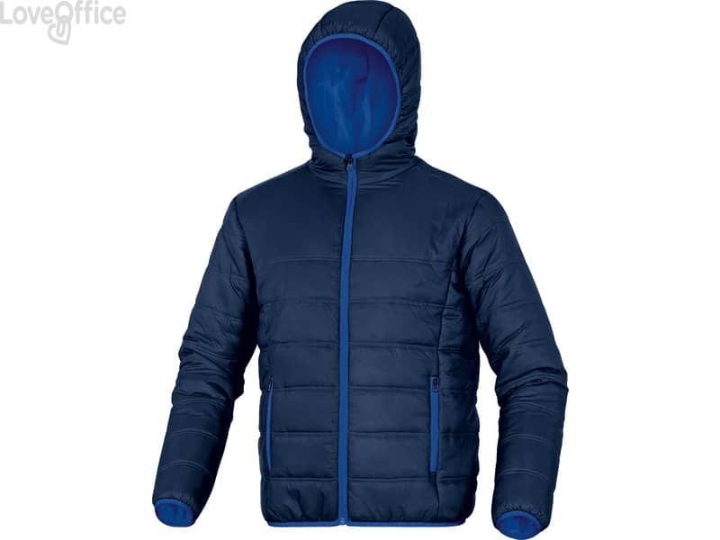 Piumino da lavoro Delta Plus Doon chiusura zip - cappuccio fisso -2 tasche poliammide blu-azzurro - M - DOONBMTM